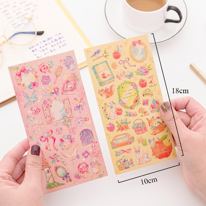 1Sheet Cute Fairy Tale Stickers Kawaii Adhesive Stickers Dream Stationery Stickers For Kids DIY Decorative Scrapbooking Supplies1Sheet Cute Fairy Tale Stickers Kawaii Adhesive Stickers Dream Stationery Stickers For Kids DIY Decorative Scrapbooking Supplies