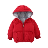 2018 Fashion Winter Baby Snowsuit 0 2Y Girl Boy Snow Wear Brand Long Sleeve Thick Warm Unisex Hooded Solid Baby Kids Snowsuits