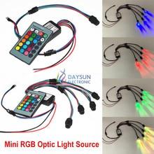 RGB светильник осветитель для автомобиля DC 12 В светильник источник 1 комплект боковой светящийся волоконный светильник двигатель 1,5-6 мм держатель волоконного кабеля светильник