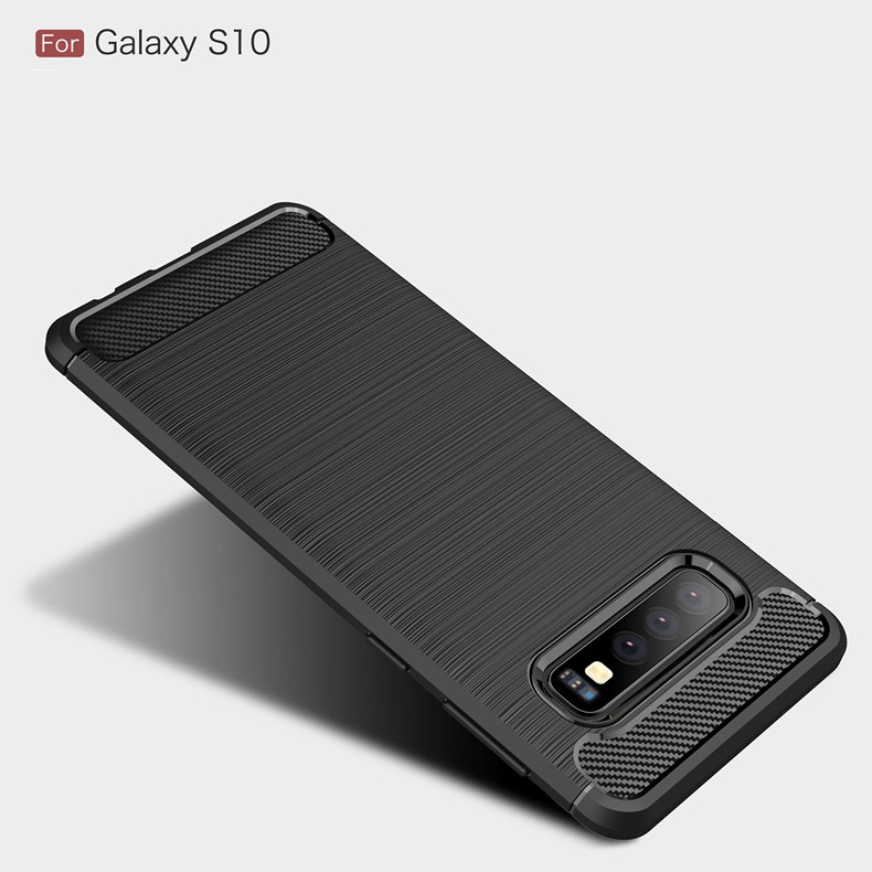 Carbon Fiber Phone Case For Samsung Galaxy S10 E S8 S9 Plus A9/A8 Star A750 A8 A6 Plus 2018 Note 9 8 A3 A5 A7 J3 J5 J7 2017