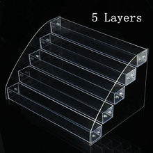Cosmetics Nail Polish Rack Display Holder 3 To 7 Tier Plastic Box Acrylic Stand Case Lipstick Organizer Storage Nail Art Display(China)