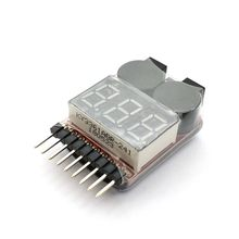 1 pièces RC cellule Checker BB anneau Lipo batterie basse tension alarme tension indicateur volt mètre moniteur buzzer alarme 1-8 S 2.7-3.8 V(China)