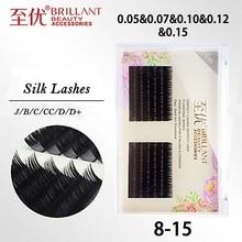BRILLANT Silk Volume Classic Mega Pick 0.05/0.07/0.10/0.12/0.15 Soft Mix Grafting Plant Eyelash Extensions Thick Individual