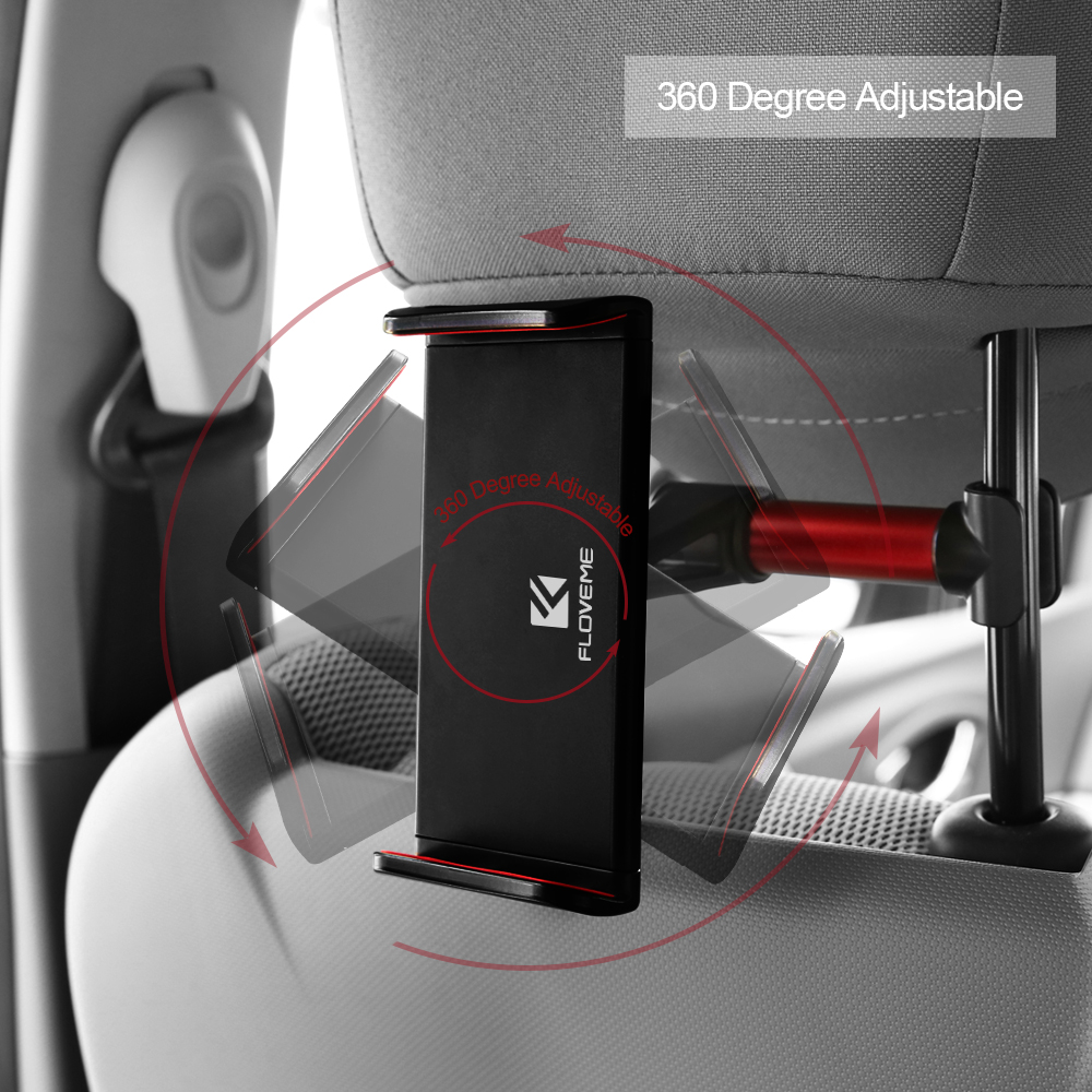 3 2 1 FLOVEME Universal Car Back Seat Tablet Holder Stand For iPad 6 5 4 3 2 Air 2 Car Silicone Holder For iPad mini 1 2 3 Tablet (4)