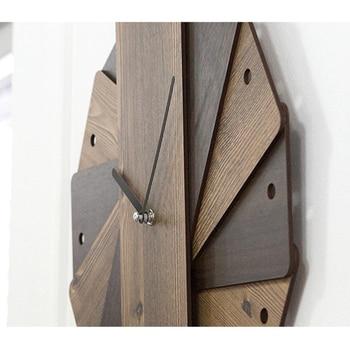 Creative Simple Wooden Wall Clock Design Retro Vintage Watch Mechanism Clocks Decorative Wood Large Wall Clock Digital 3DBG023