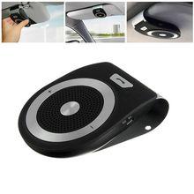 Bluetooth Car Speaker Handsfree Visor Speakerphone Phone Includes Magnetic Mount Holder