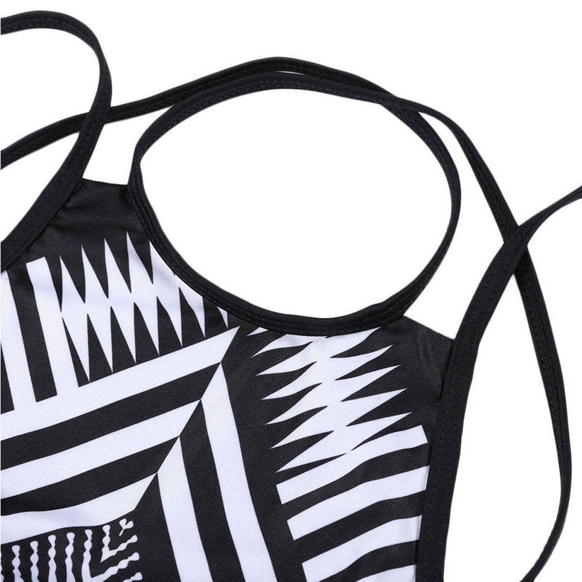 Una pieza acolchada Bikini mujeres traje de baño vendaje Push-up traje de baño