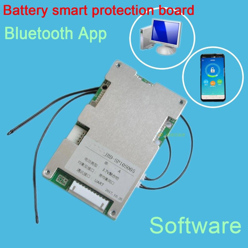 13 S 48 V 20A 30A 40A 60A 18650 batería de litio inteligente Junta de Protección equilibrio bms pcm W android Bluetooth app UART con software