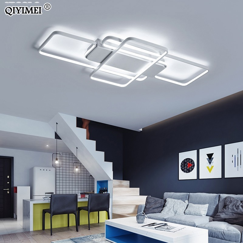 Dimming LED Ceiling Lights post modern style for living room study room decorative lampshade ceiling lamp lamparas de techo リビング シャンデリア