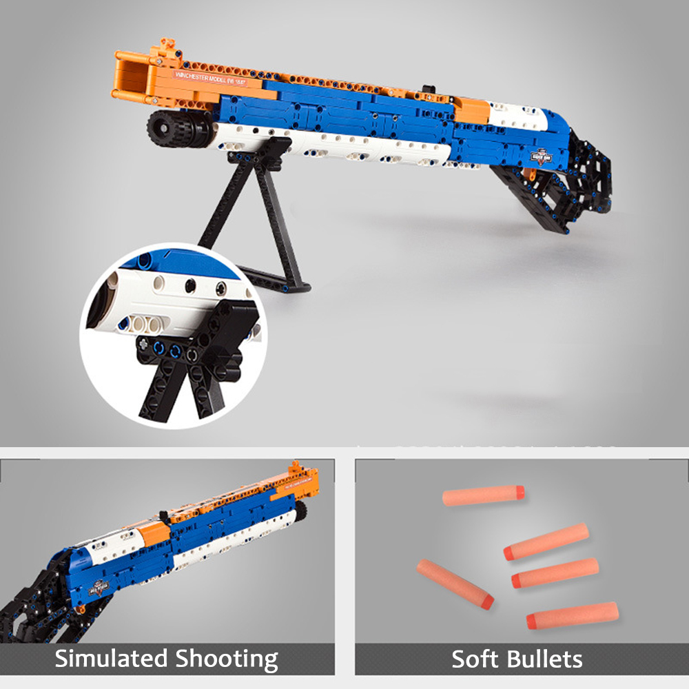 ak47 toy gun toy  gun model 98k gun building blocks bricks educational toys for children boys 2