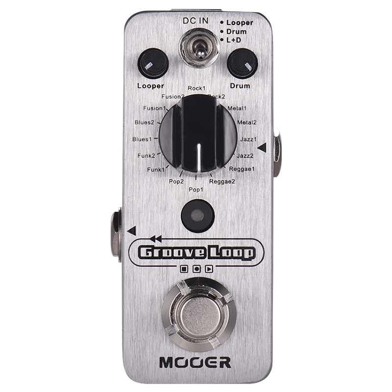 MOOER Groove Loop Drum Machine & Looper Pedal 3 Modes Max. 20Min Recording Time Tap Tempo True Bypass Full Metal ShellMOOER Groove Loop Drum Machine & Looper Pedal 3 Modes Max. 20Min Recording Time Tap Tempo True Bypass Full Metal Shell