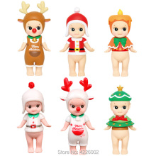 Sonny Angel Christmas Series Mini PVC Action Figures Kewpie Collectible Figurine Model set kids Toys For Children Birthday Gift цены