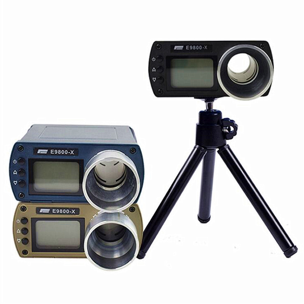 ZEAST E9800-X Shooting Speed Tester High-Precision Shooting -10C to 50C 0-500J Firing-Kinetic Energy LCD Screen