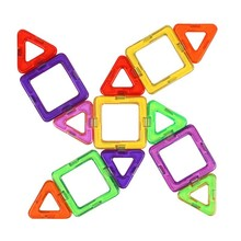 30 Pieces Of Triangle Square Magnetic Building Block 3d  Building Blocks Educational Toy Magnet Model 168pcs set 3d diy kids creative educational magnetic building blocks toys triangle square hexagon wheels deluxe super brain set