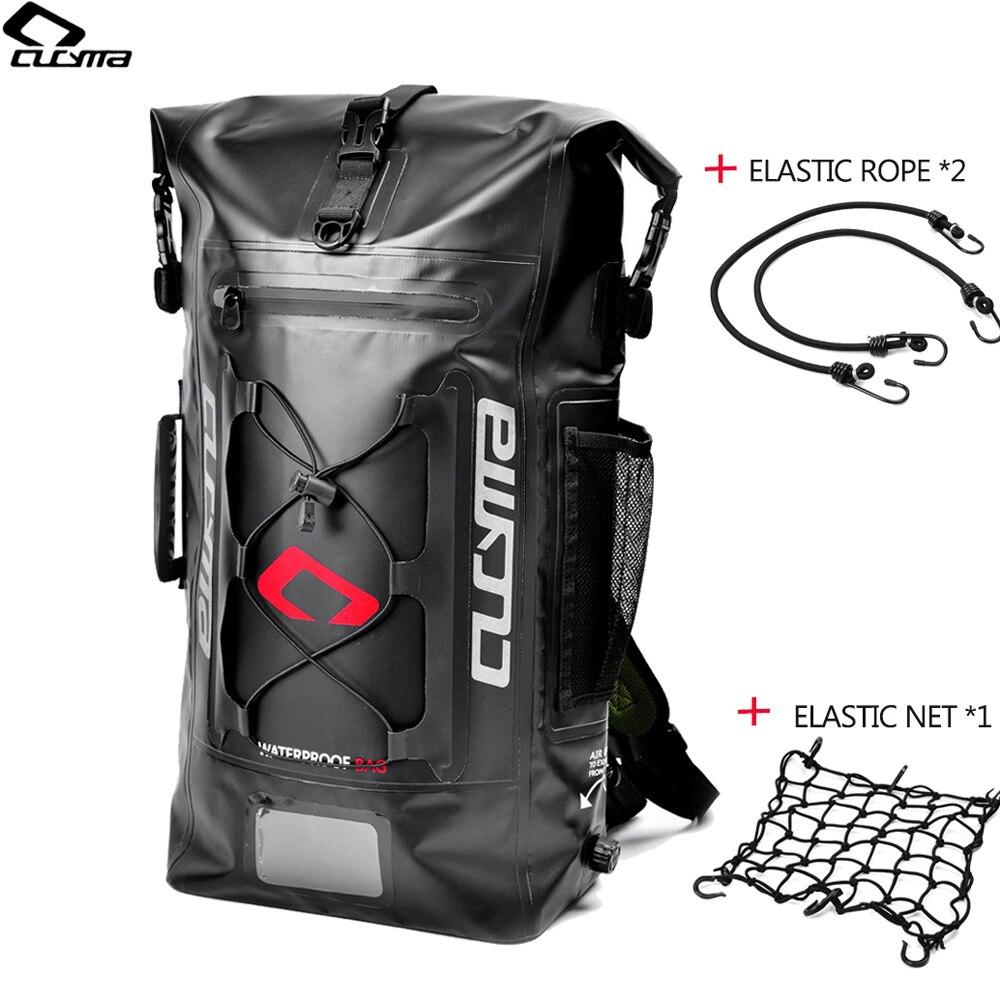 33a2b252dd WOSAWE Waterproof Motorcycle Bag Backpack PU Motorcycle Rear Package Helmet  Bag Hang Motorbike Back Seat Bags