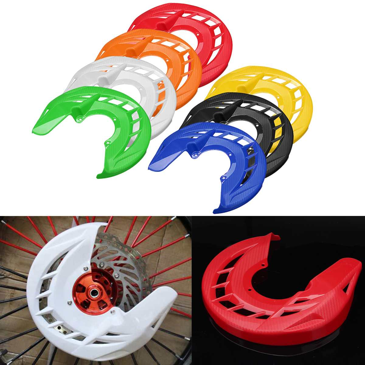 For KTM For Honda For YAMAHA Universal Motorcycle Front Brake Disc Rotor Guard Cover Protector Motocross