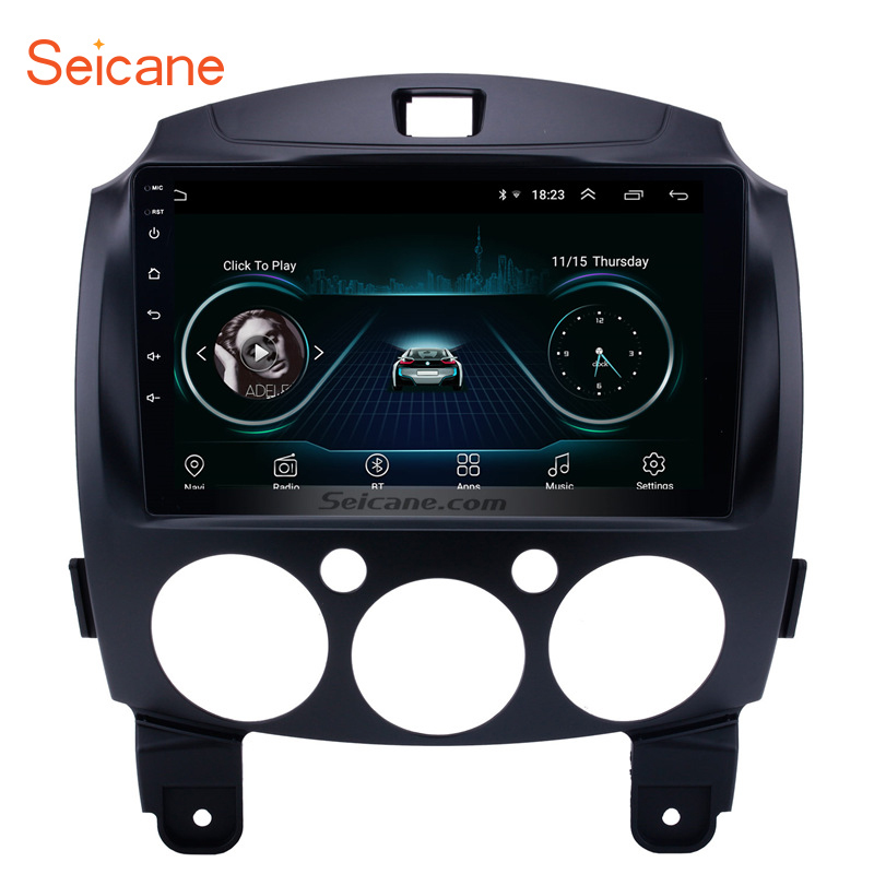 Seicane 2Din 9 inch Android 8.1 Car Radio Stereo GPS Navigation Head Unit For MAZDA 2/Jinxiang/DE/Third generation 2007 2014