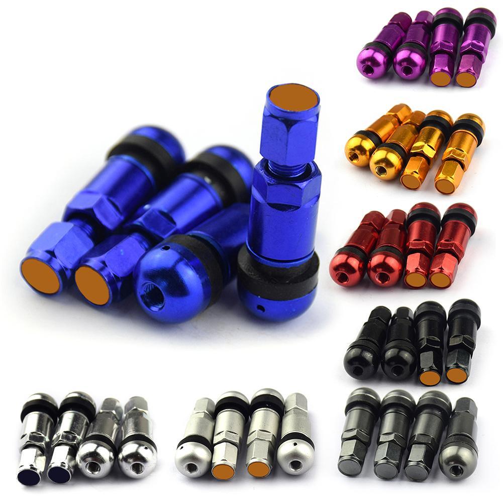 4X Blue Plastic Grenade Car Motorcycle Wheel Tire Valve Stem Caps For GMC