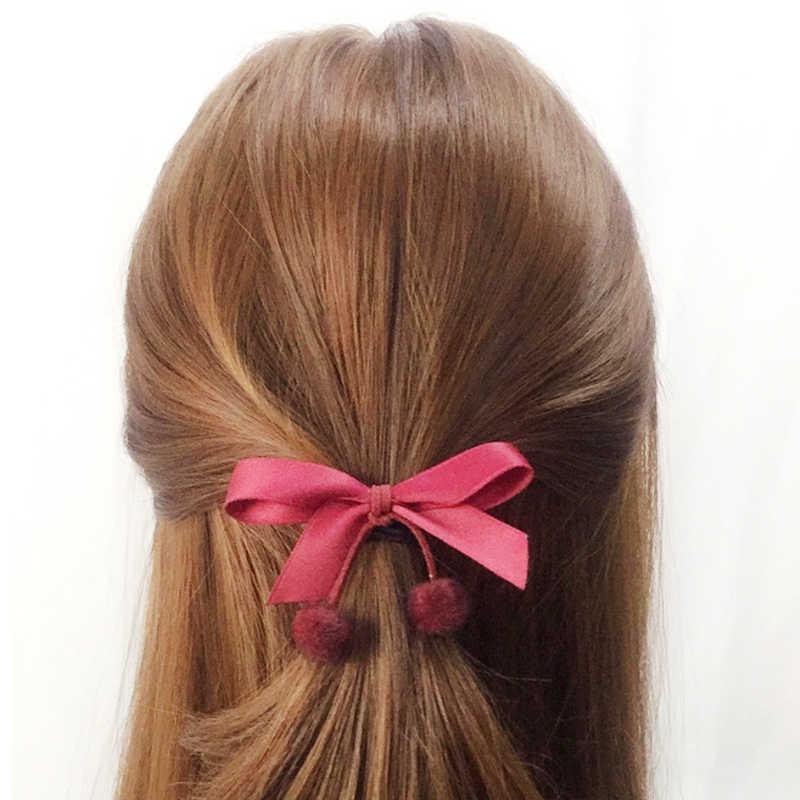 1 шт., многослойные эластичные резинки для волос с бантом на голову и цветком, 1 шт.