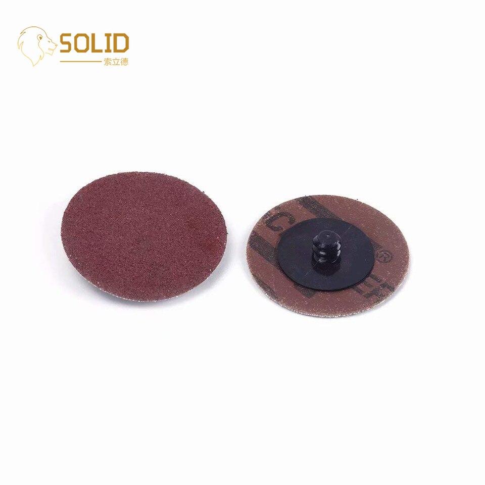 "100 pcs 2/"" Roll Lock Sanding Discs 60 GRIT Roloc Abrasive Pads Auto Body Type R"