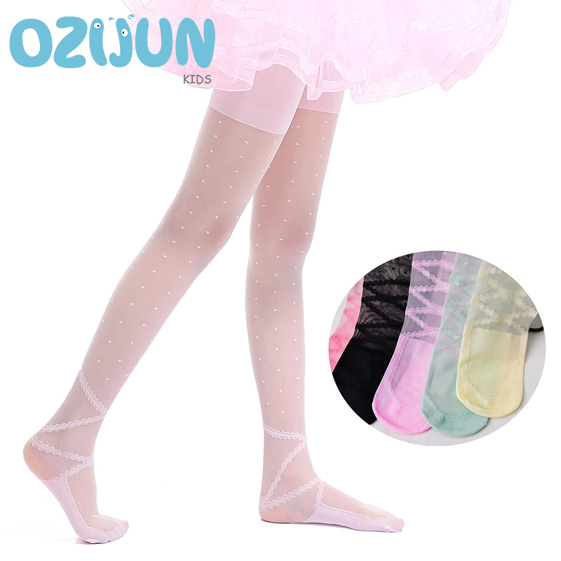 2019 New Summer Baby Girls Tights Ultra-thin White Ballet Girl Dance Anti-hook Silk Pantyhose Children Princess Mosquito Tights