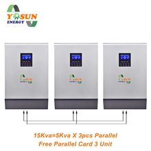 Pure Sine Wave 10Kva 15Kva 20Kva Solar Inverter 50A PWM 48Vdc 220Vac Off Grid Inverter 50A AC Battery Charger Free Parallel Card