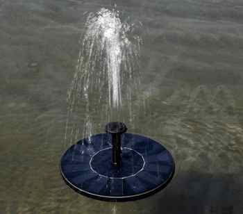 MINI Solar Powered Floating Bird Bath Water Panel Fountain Pump Garden Pond Pool