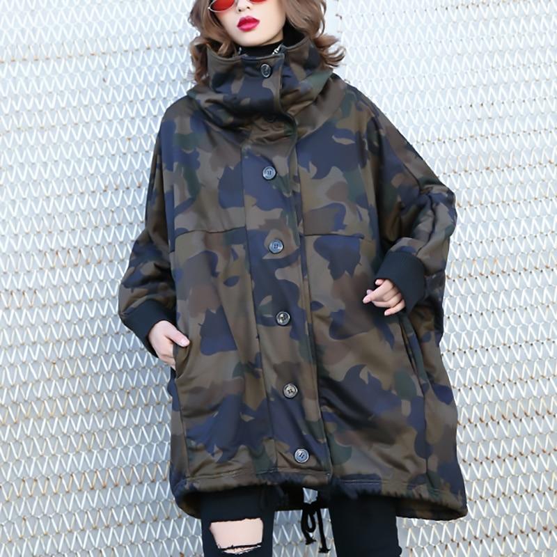 À Cordon eam Mode Camouflage Imprimé Color Manches Manteau Nouveau Capuchon Veste Épais De Longues Marée 2019 Printemps Femmes Chaud Jk684 Picture r0wrqxtg