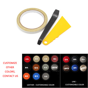 Image 5 - 5 Pcs Interieur Auto Center Armsteun Doos Pad Microfiber Leather Cover Trim Voor Toyota Highlander 2015 2016 2017 2018