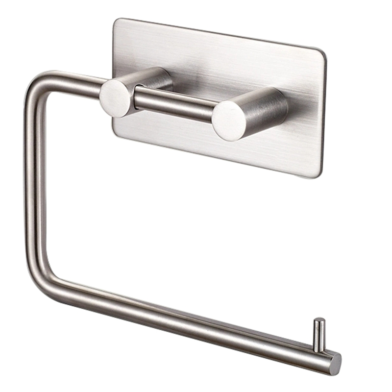 Stainless Steel Self-Adhesive Tissue Rack Toilet Paper Roll Holder HangersStainless Steel Self-Adhesive Tissue Rack Toilet Paper Roll Holder Hangers