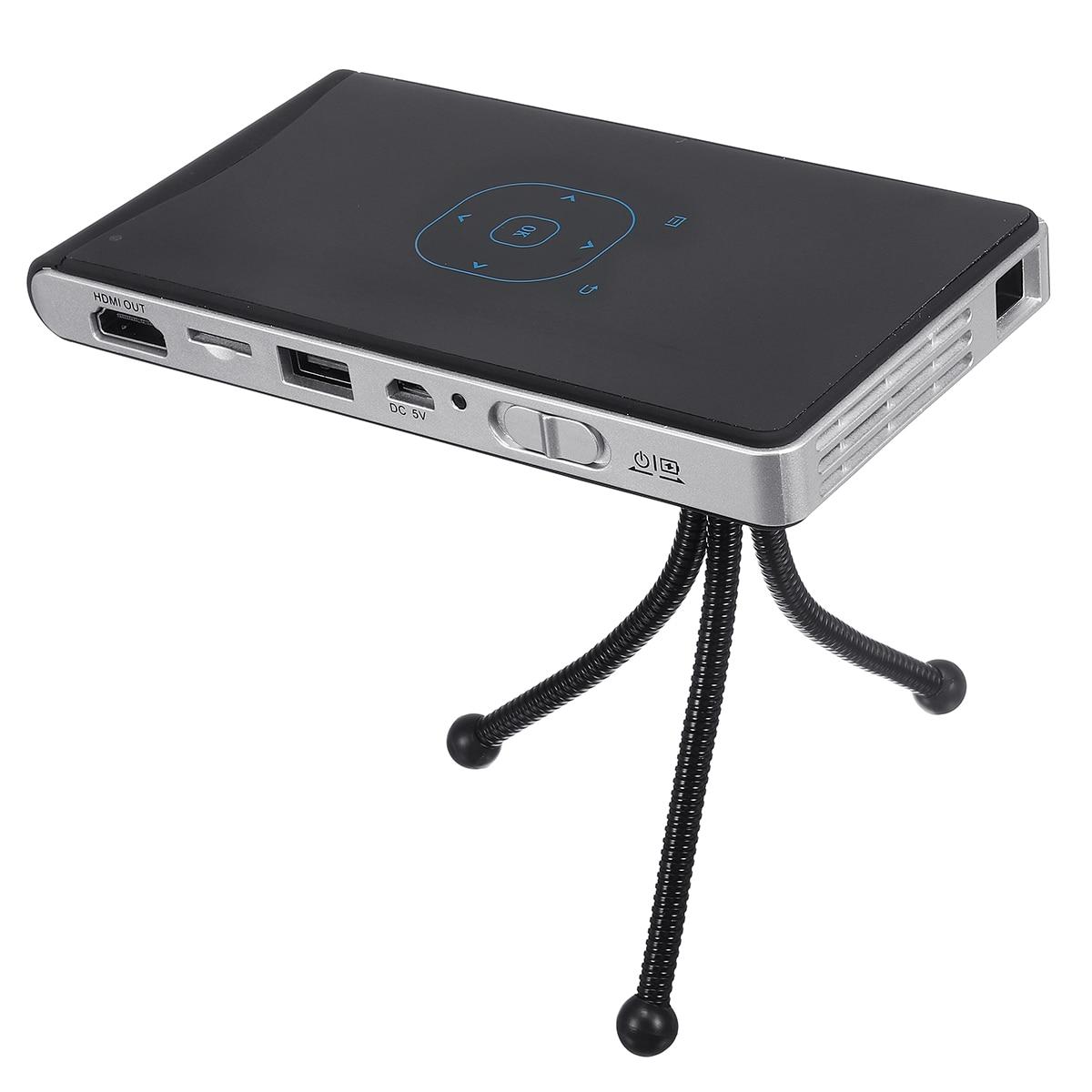 Портативный светодиодный проектор DLP1080p домашний кинотеатр Wifi четырехъядерный HD Android домашний офис видеооборудование путешествия Кемпинг