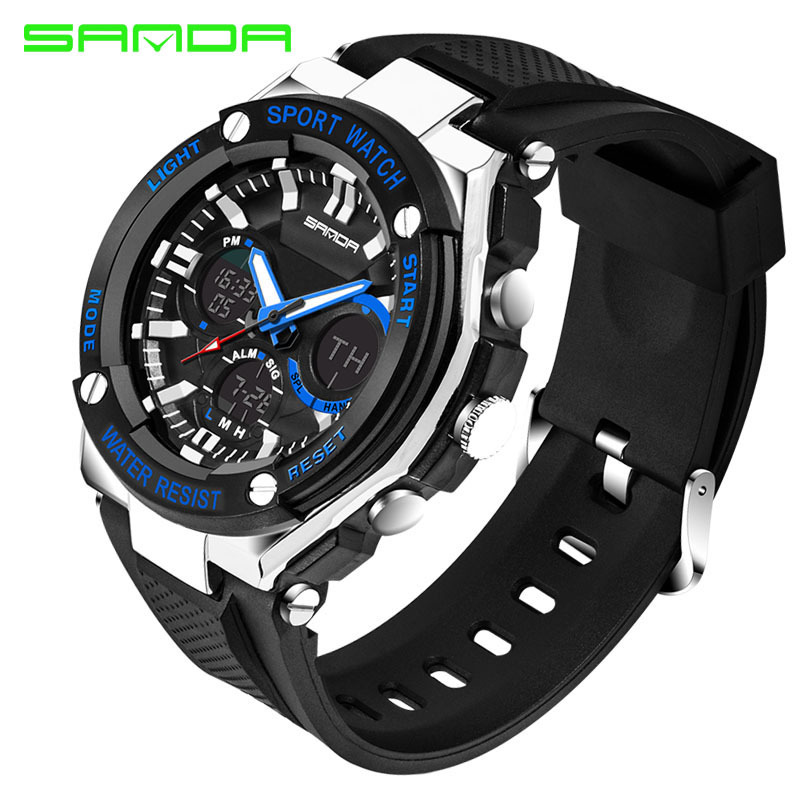 Men Sport Watch Waterproof Top Brand Luxury Military Watch LED Digital Quartz Wristwatch Relogio Masculino Reloj Hombre 2019 733 1