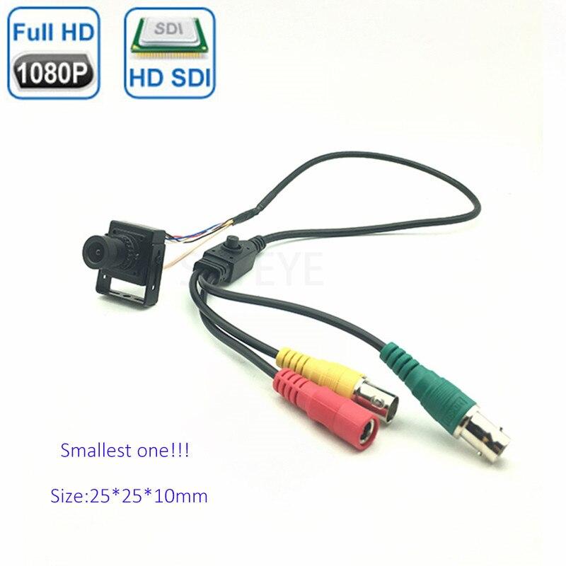 World's Smallest 25*25mm 1080P OSD Cable Control 2MP Mini Square 1080P EX-SDI HD-SDI Mini Camera 1080P CCTV Camera For Medical