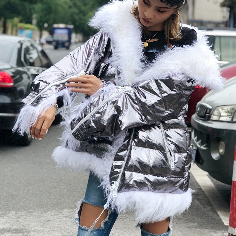 Moda Chaquetas De Femenino Con Lana Patchwork Mujer Para Sliver zxEvEBqRw