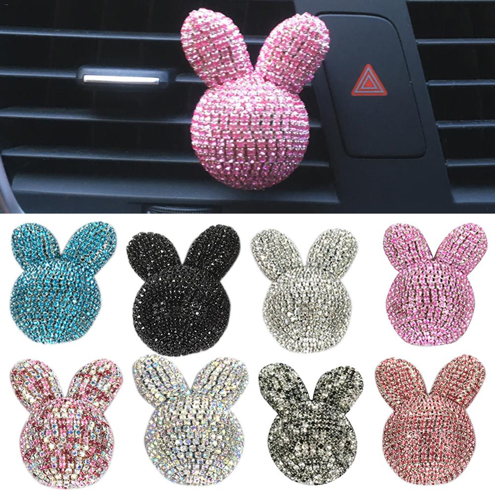Ar Aromatherapy Accessories Encrusted Rabbit Air Conditioning Air Outlet Aromatherapy Clip Car Interior Decoration 8 Color