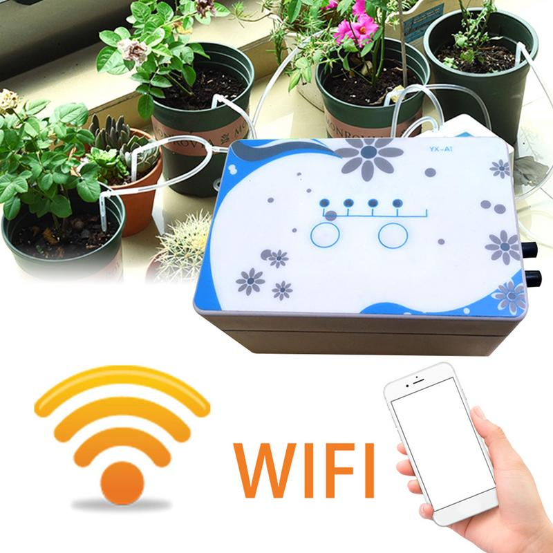 Automatic Watering Cans Device WIFI Control Garden Intelligent Irrigation Solenoid Valve Timer Automatic Watering Device Set-in Garden Water Timers from Home & Garden    1
