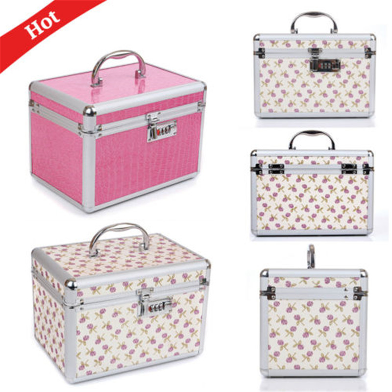 Hot Password Lock Multifunction Professional Makeup Cosmetic Bags Case Organizer Portable Storage boxes