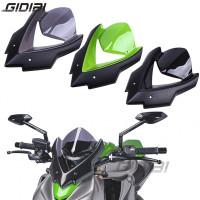 Bicicleta Double Bubble Windshield For Kawasaki Z1000 Z 1000 2015 2017 Windscreen Screen Wind Deflectors 15 17