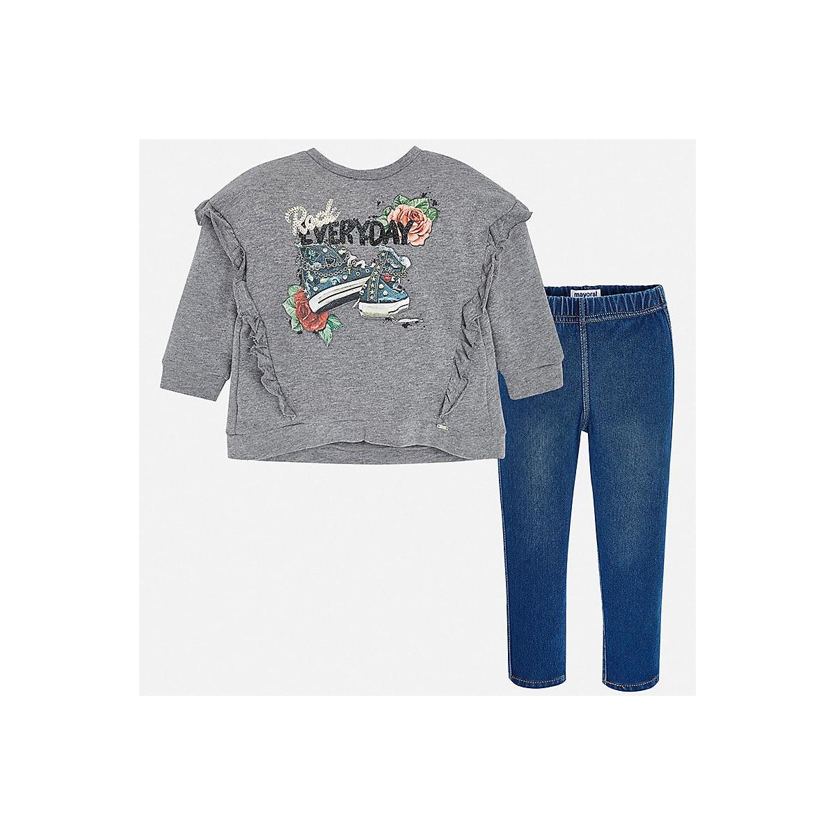 MAYORAL Children's Sets 8848793 Cotton Girls Fashion clothing costume for girl leggings T-shirt