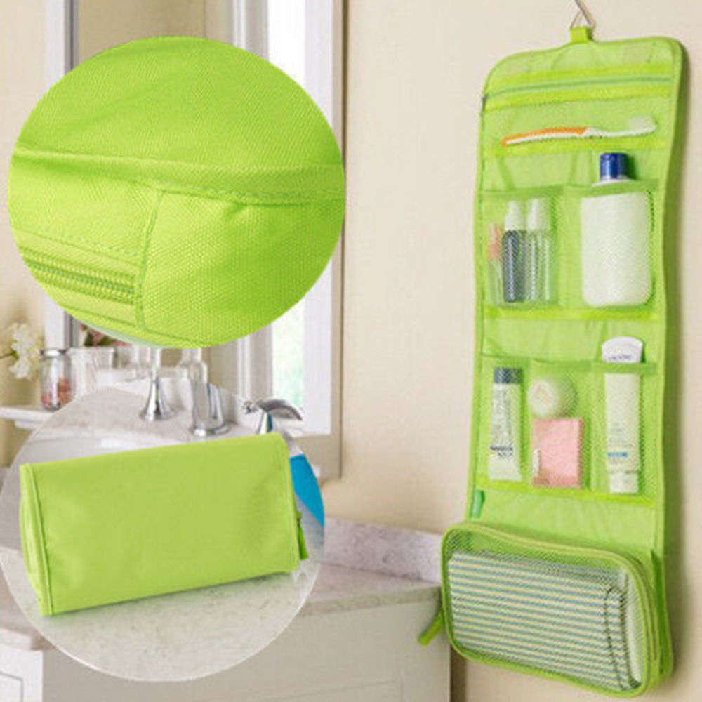 Travel Toiletry Pouch Storage-Bags Sundries-Organizer Makeup Wall-Hanging Multi-Functional