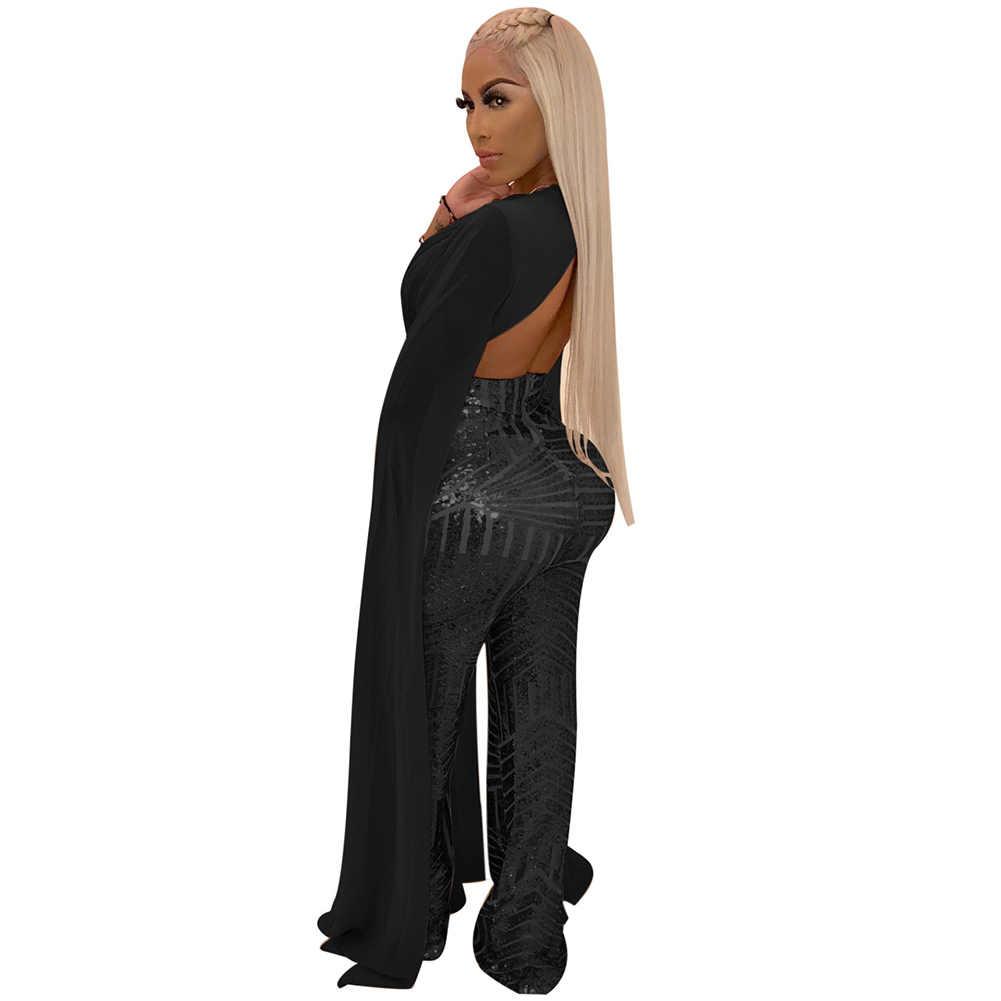 Плюс размер женское платье с блестками Клубная одежда 2019 вечерние повседневные обтягивающие амулеты абрикосы черный красный комбинезон Bodycon Sequin модные комплекты