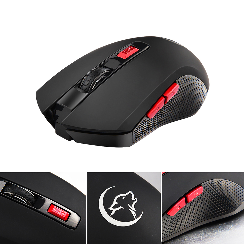 Image 3 - G817 Universal Adjustable 2400DPI PC Battery Powered 2.4G Wireless Gaming Mouse-in Mice from Computer & Office