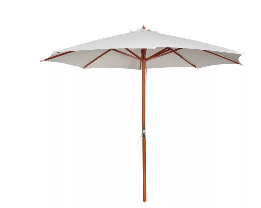 Vidaxl 3m Diameter White Parasol Summer Umbrella Patio Umbrella Bases Foundation Sun Shelter Accessories Outdoor Furniture