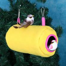 Cute Bird Parrot Hanging Hammock Birds Warm Thick Plush Nest for Parrot Bird Soft Plush Tent Bed Bunk Toy Hanging Cave Nest(China)