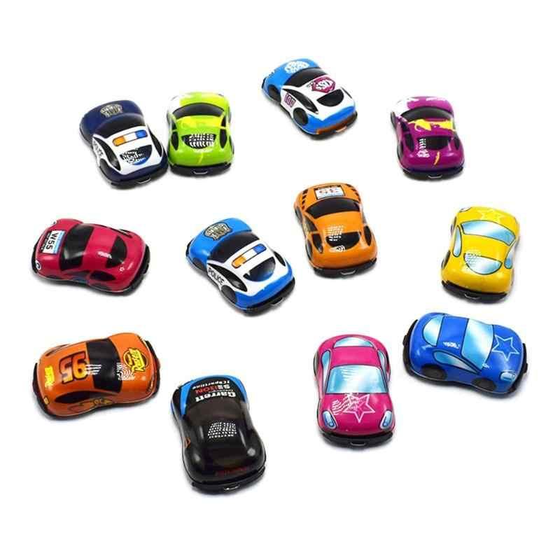 Meninos Carros Dos Desenhos Animados Crianças Diecasts Brinquedo Pequeno Mini Caminhão Do Motor Do Veículo de Construção Liga Modelo de Carro Crianças Presentes de Natal