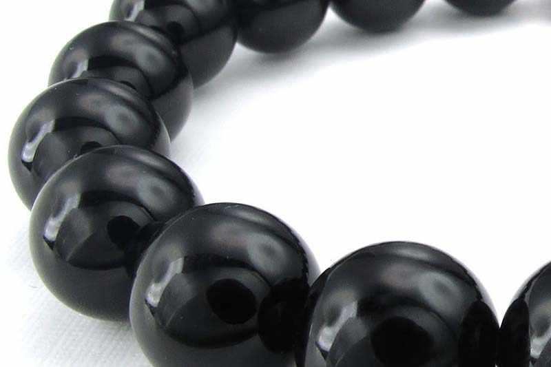 Bijoux hommes Bracelet, 10mm Agate bijoux énergie Bracelet énergie pierre boule noir