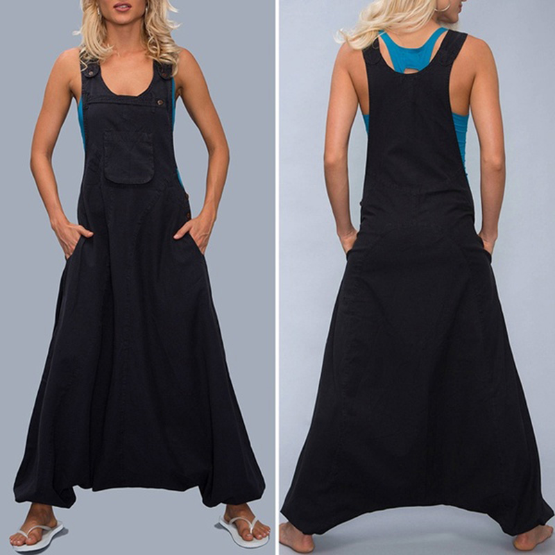 Women Oversize Bib Pants   Jumpsuit   Romper Dungaree Loose Baggy Overalls Plus Size