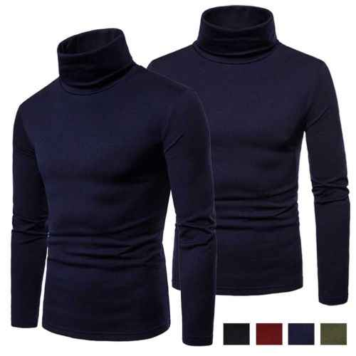Mens thermal cotton turtle neck skivvy 터틀넥 t 셔츠 스트레치 셔츠 탑스 us