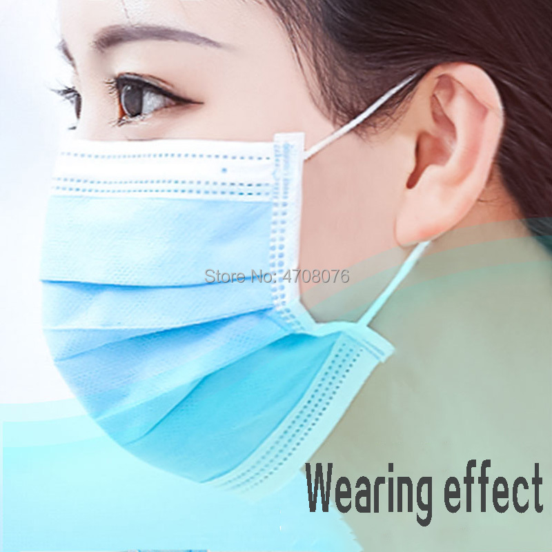 Medical Face Mask Disposable Sterile Anti-Dust Mouth Muffle Surgical Clean Masks Respirator Non-woven Face Mask 50pcs/pack