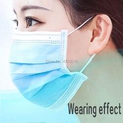 Medico maschera monouso Sterile Anti-Polvere bocca a muffola Chirurgico pulito maschere Respiratore Non tessuto maschera 50 pz/pacco